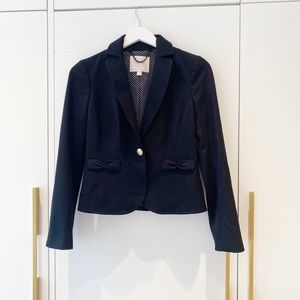 Rebecca Taylor Black blazer with Bow detailing